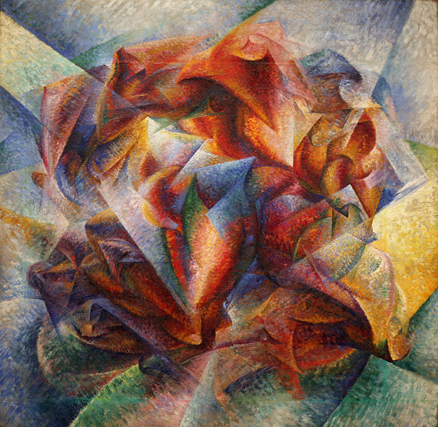 """Dynamism of a Soccer Player"" Umberto Boccioni. 1913, courtesy shooting_brooklyn"